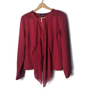 Ashley Stewart Red Zipper Jacket